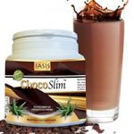 ChocoSlim IASIS 175gr σοκολατούχο ρόφημα με ισχυρή αδυνατιστική δράση, χωρίς ζάχαρη, χωρίς γλουτένη με μόνο 20 θερμίδες ανά δόση
