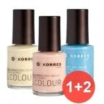 Korres Nail Color Set 1+2 ΔΩΡΟ Walk on the beach
