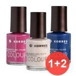 Korres Set  Βερνίκια Νυχιών 3 τεμάχια Cool Nights (1+2 δώρο)