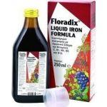 Floradix 250 ml POWER HEALTH τονωτικό συμπλήρωμα με οργανικό σίδηρο, βιταμίνες Βcomplex ,βιταμίνη C, εκχυλίσματα φυτών και χυμούς φρούτων