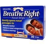 Breathe Right ρινικές ταινίες για μειωση του ροχαλητού 30 ταινίες