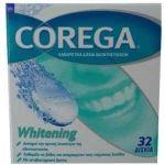 Corega Whitening Καθαριστικά Δισκία Οδοντοστοιχιών