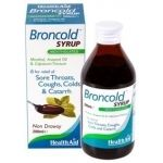 Health Aid Broncold Syrup 200ml για βήχα πονόλαιμο
