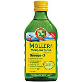 Mollers Μουρουνέλαιο Natural Παραδοσιακό Μουρουνέλαιο σε Υγρή Μορφή με φυσική γεύση  250ml