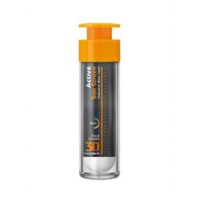 Frezyderm Active Sun Screen Face Cream SPF30 50ml (Αντηλιακή Κρέμα Προσώπου με Ειδική Μαύρη Χρώση)