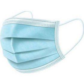 FACE MASK Χειρουργική μάσκα μιας χρήσης 3 στρωμάτων 3ply μπλε με λαστιχακι 1 τμχ