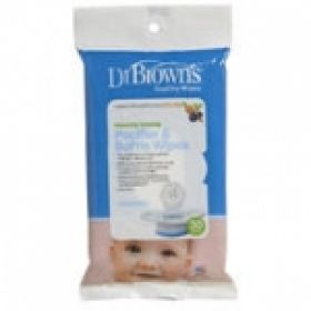 Dr. Brown's Pacifier & Bottle Wipes, Υγρά Μαντηλάκια Καθαρισμού πιπιλας , 0 μηνών +, 30 τεμ. 003