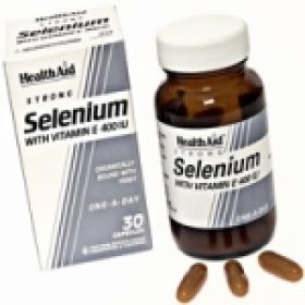 Health Aid Selenium 100ug + Vitamin E 400iu capsules 30s