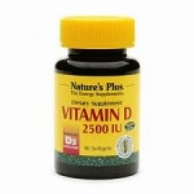 Nature's Plus Vitamin D3 2500 IU Softgels