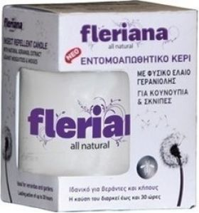 POWER HEALTH FLERIANA Insect Repellent Candle εντομοαπωθητικό κερί 130gr