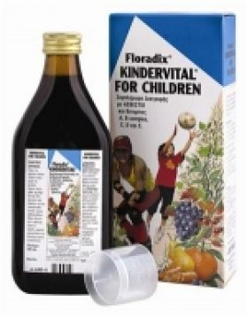 Power Health Floradix Kindervital, Συμπλήρωμα Διατροφής για Παιδιά με Ασβέστιο και Βιταμίνες Α, Β Complex, C, D και Ε, 250ml