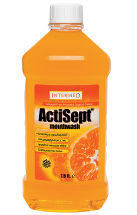 Actisept mouthwash με γευση πορτοκάλι 1,5 lt