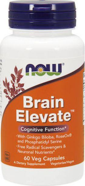 Now Foods Brain Elevate Vegeterian 60 φυτικές κάψουλες