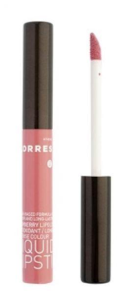 Liquid Lipstick Βατόμουρο, 13 Ροζ, Έντονο Χρώμα 3,5 ML KORRES